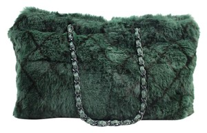 Chanel Lapin Orylag Quilted Chain Neverfull Tote in Green