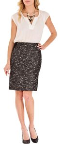 Ivanka Trump Pencil Luxury Skirt Black/white