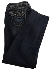 Miss Me Denim Studded Fray Skinny Jeans