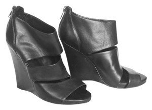 ALDO Leather Wedge Black Boots