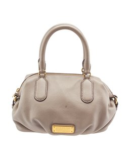 Marc by Marc Jacobs New Q Legend Leather Satchel in Beige