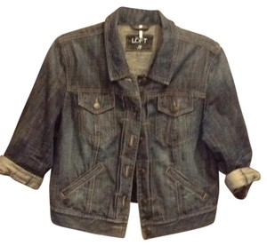 Ann Taylor LOFT Denim, medium indigo Womens Jean Jacket