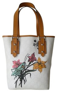 Gucci Flower Grasshopper Joy Tatoo Vuitton Tote in White Multi