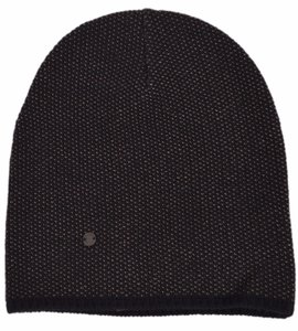 Gucci Gucci 352350 Men's Black Beige Wool Cashmere Beanie Ski Winter Hat L