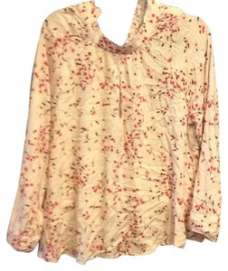 Express Top Blush blossom print