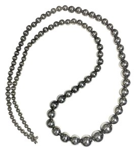 Antique Spherical Necklace- Sterling Silver