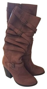 Steve Madden Knee High Wide Calf Brown Boots