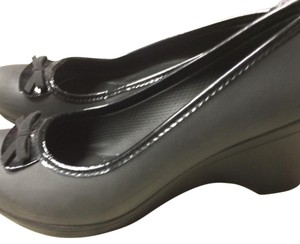 Crocs Black Wedges