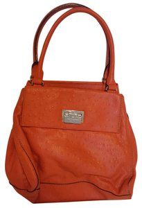 Kate Spade Ostrich Leather Handbag Satchel in Orange