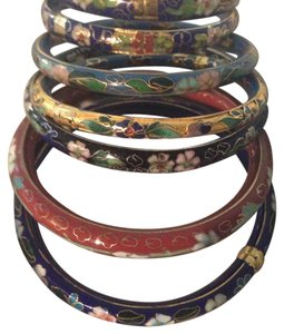 NYC JEWELERS Stackable Colorful Florel Designed Bangles