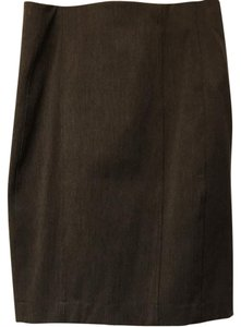 Express Pencil Grey Office Work Business Casual Skirt Dark Gray