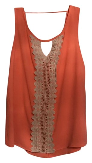 Francesca's Collection Bright Sleeveless Top Coral - 60% Off Retail good
