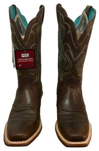 Ariat Legend Cowboy Cream Brown with Turquoise Boots