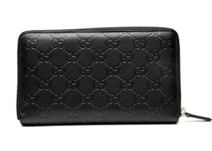 Gucci Guccissima embossed continental zip wallet
