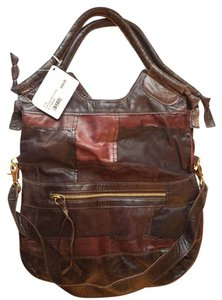 Foley + Corinna Tote in Brown Patchwork