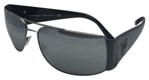 Versace New VERSACE Sunglasses VE 2163 1381/8G Anthracite & Black w/Mirror