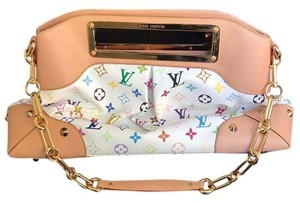 Louis Vuitton Satchel in White Monogram Multicolored