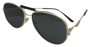 Versace New VERSACE Sunglasses VE 2167-Q 1002/87 Gold & Black Aviator w/Grey