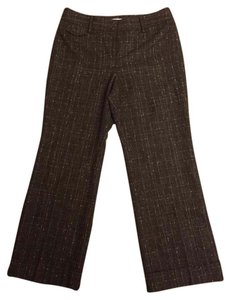 Ann Taylor LOFT Trouser Pants Dark Brown/Beige