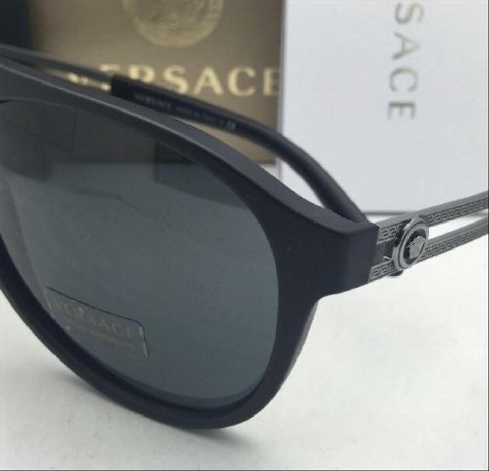 8636e6841dd24 Versace New VERSACE Sunglasses VE 4312 5141 87 60-15 Black Rubber Frame w.  1234567