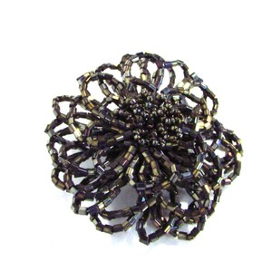 Talbots Beaded Flower Brooch