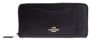 Coach Coach Crossgrain Leather Accordion ZIp Around Wallet