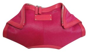 Alexander McQueen Demanta Fuschia Clutch