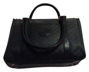 Gucci Satchel in black small G logo print coated canvas & leather