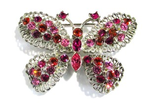 Talbots Gem Encrusted Butterfly Brooch