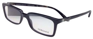 Versace New VERSACE Eyeglasses VE 3174 GB1 53-17 Black w/ Multi-Color Temples