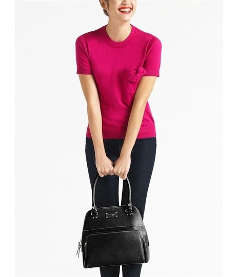 Kate Spade Leather New Satchel in Black