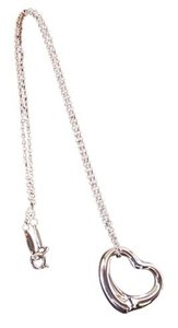 Tiffany & Co. Elsa Peretti Open Heart Pendant and Sterling Silver Necklace