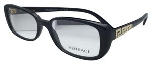 Versace New VERSACE Eyeglasses 3178-B GB1 53-16 135 Black Frame w/ Crystals
