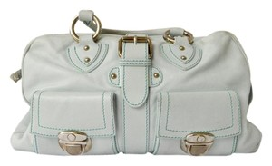 Marc Jacobs Vanetia Leather Green Satchel in Mint Green