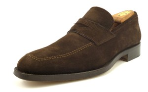 Canali Suede Slip On Strap Loafers