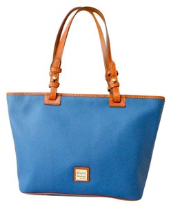 Dooney & Bourke Leather Tote in Blue
