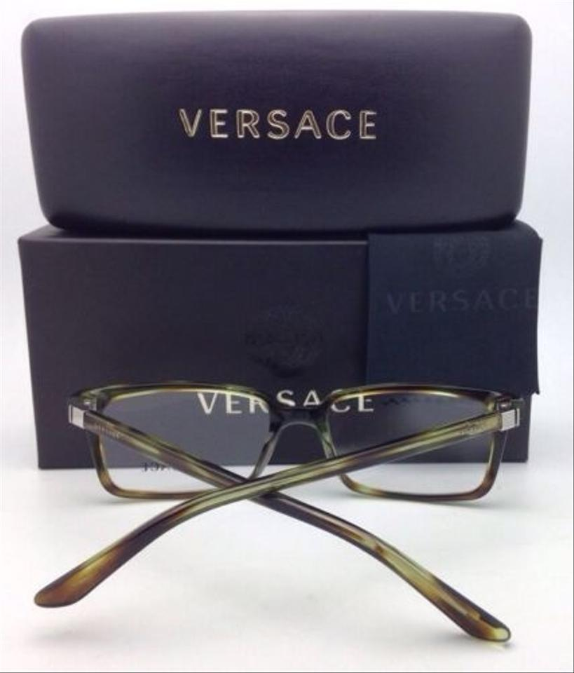 24624cabe44 Versace New VERSACE Eyeglasses VE 3174 5047 53-17 Striped Green Transparent  Image 8. 123456789
