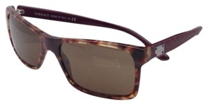 Versace New VERSACE Sunglasses VE 4274 5110/73 Tortoise & Burgundy w/ Brown
