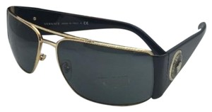 Versace New VERSACE Sunglasses VE 2163 1002/87 63-15 Black & Gold w/ Grey