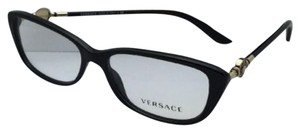 Versace New VERSACE Eyeglasses VE 3206 GB1 54-15 Black & Gold Frame
