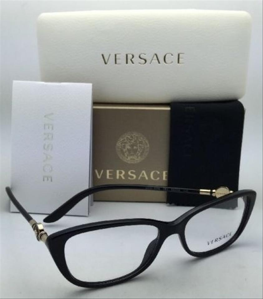 d19d2ef3347c Versace New VERSACE Eyeglasses VE 3206 GB1 54-15 Black   Gold Frame Image  8. 123456789