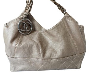 Chanel Leather Cabas Tote Hobo Bag