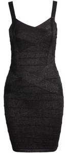 Private Collection Bodycon Black Bandage Dress