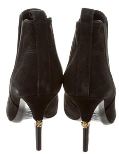 Tory Burch Hardware Reva Black, Gold Boots