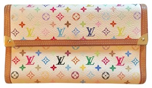 Louis Vuitton Louis Vuitton Porte Tressor Multicolore Canvas & Leather Wallet