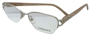 Versace New VERSACE Eyeglasses 1215-B 1252 51-16 Gold Frame w/ Crystals
