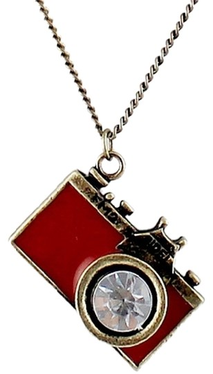 Private Collection Red camera necklace!