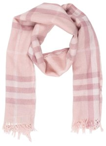 Burberry Pink, beige multicolor Burberry Nova Check wool scarf