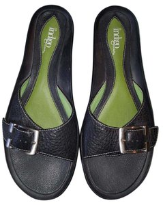 Clarks Indigo Leather Black Sandals