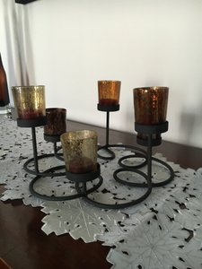Mercury Glass Centerpiece Candles